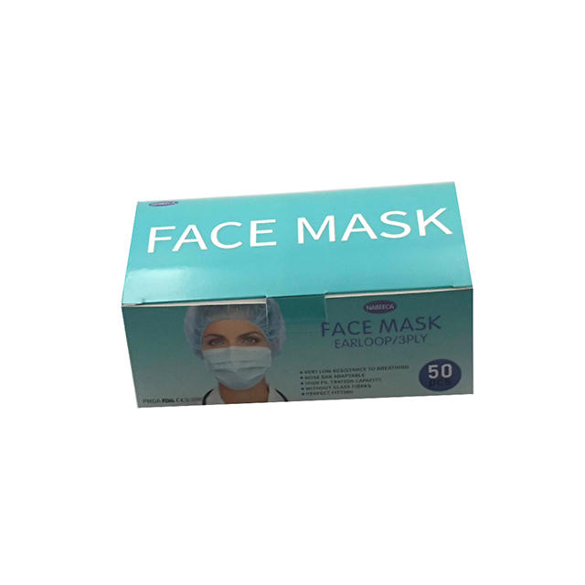 product-Standard Surgical Disposable Medical Face Mask Packaging Box Art Paper Box-WenJie-img-1