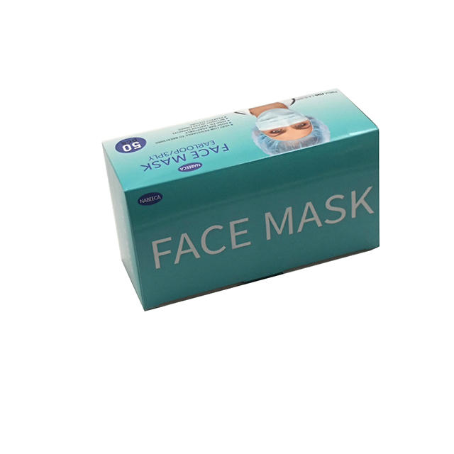 Standard Surgical Disposable Medical Face Mask Packaging Box Art Paper Box