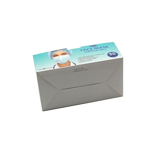product-WenJie-Standard Surgical Disposable Medical Face Mask Packaging Box Art Paper Box-img