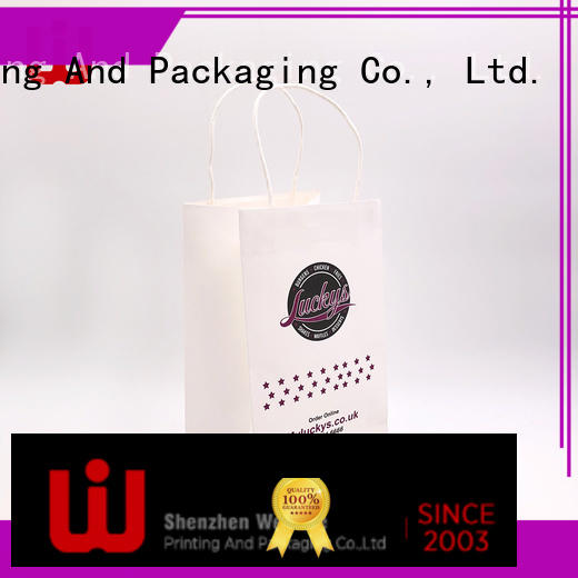 WenJie Latest recycled paper bags with handles wholesale with string for shop