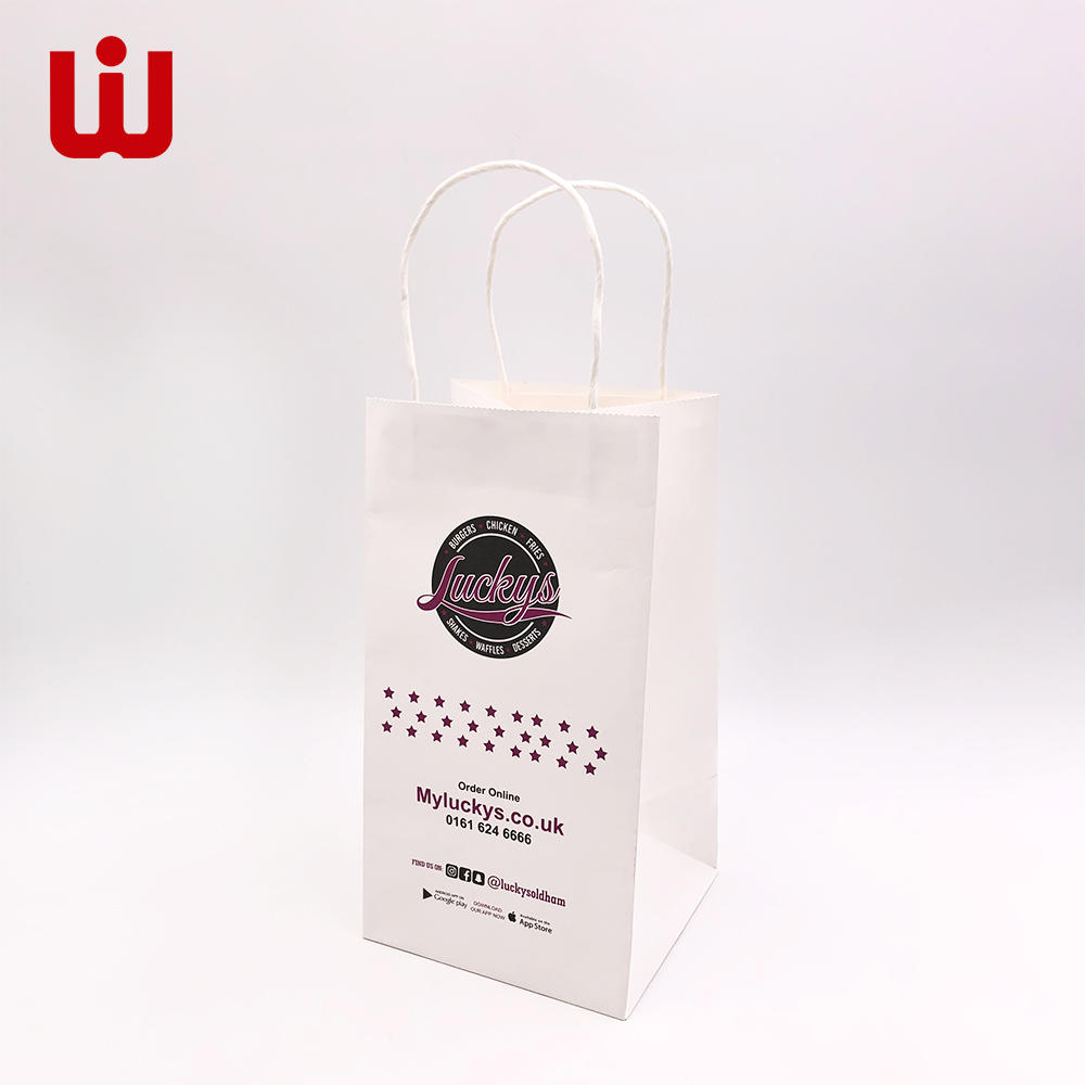 White Kraft Paper Bag with String paper gift bags