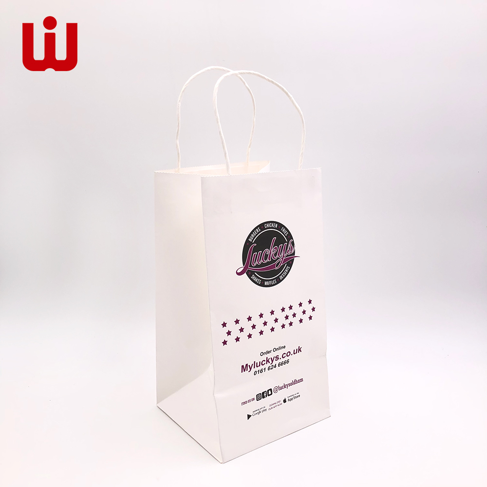 WenJie New colored paper sacks with handles for shopping-1