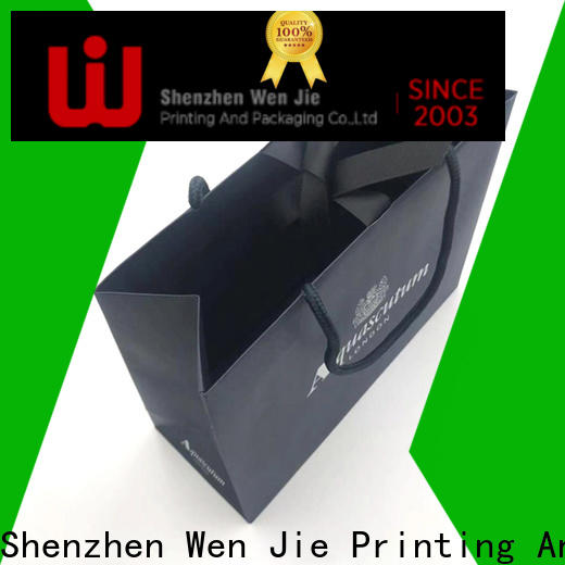 WenJie white brown paper gift bags wholesale directly price for shop