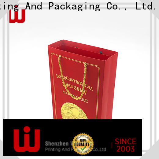 WenJie Latest kraft paper carry bags with handles for store