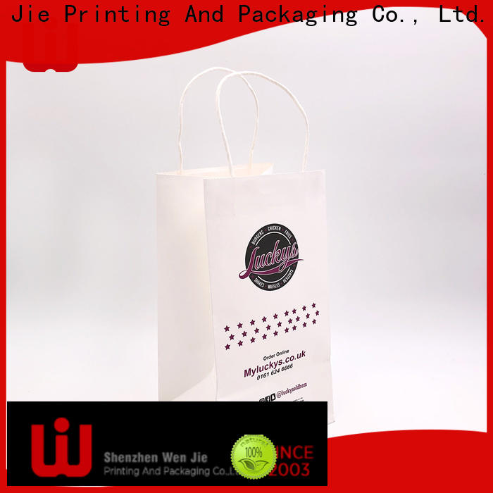 WenJie brown thin paper bags for business for store