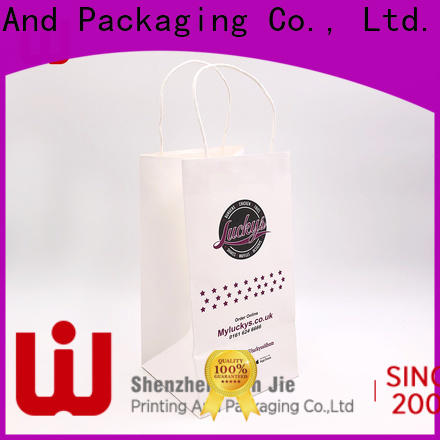 WenJie hand printed brown paper bags with handles China wholesale for market