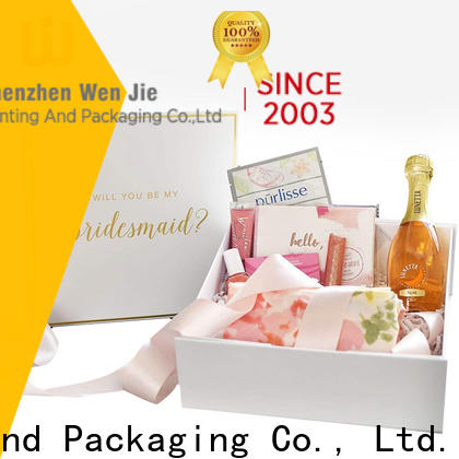 WenJie folding magnetic paper box for business for store