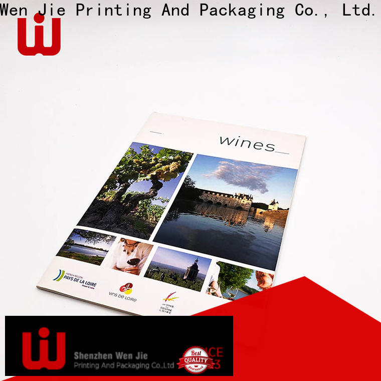 WenJie hard mail order catalog printing manufacturers for restaurant
