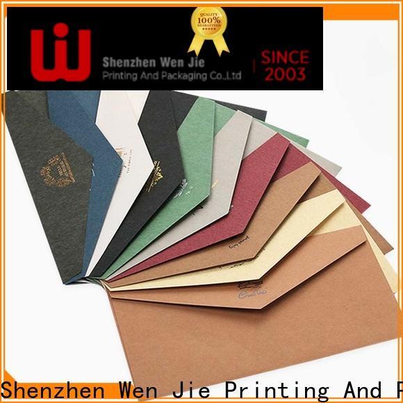 WenJie fancy envelope printing price factory price for wedding