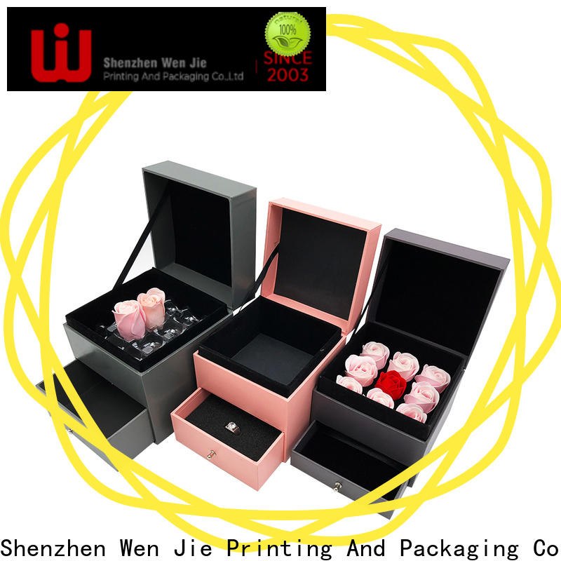 WenJie cardboard large purple gift box wholesale for supermarket