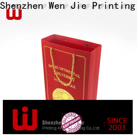 WenJie ribbon brown paper gift bags with handles company for shop