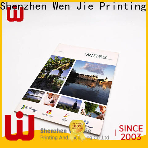 WenJie brochure catalogue printing india factory for book store