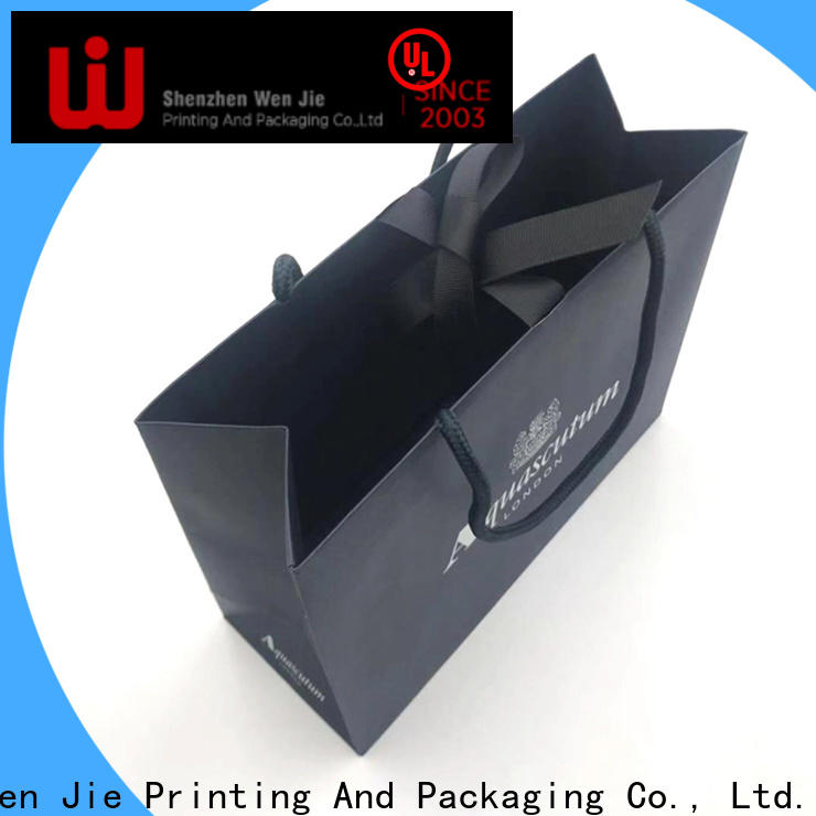 WenJie good quality custom kraft paper bags wholesale for shopping
