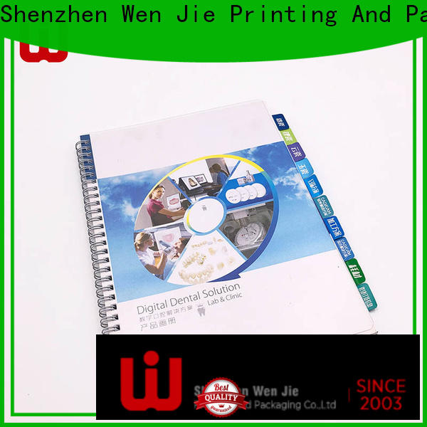 WenJie High-quality matte brochure printing factory for store