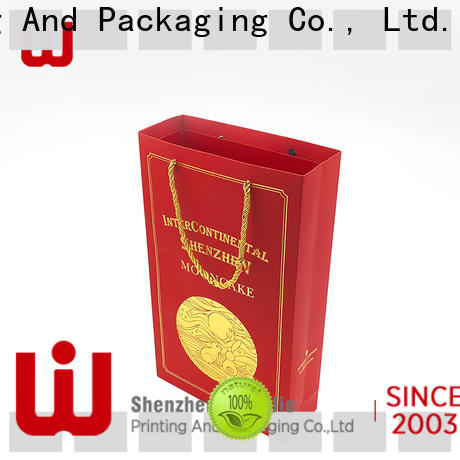 WenJie bag plain brown paper bags with handles for business for market