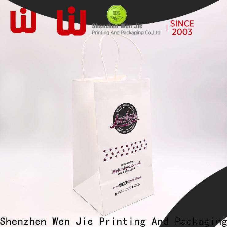 WenJie New colored paper sacks with handles for shopping