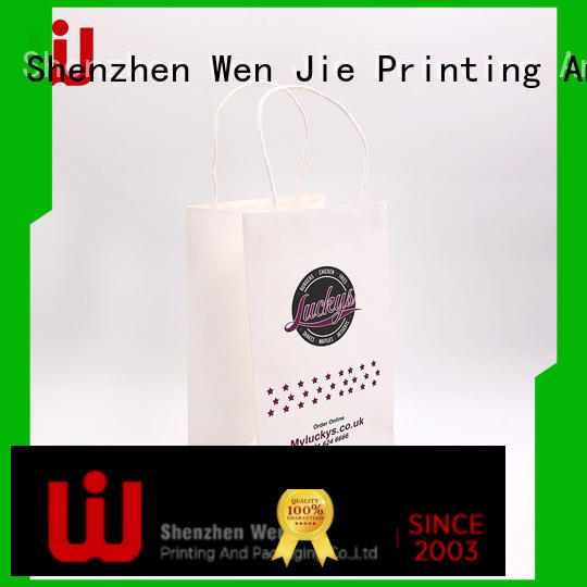 WenJie white buy paper lunch bags with string for store
