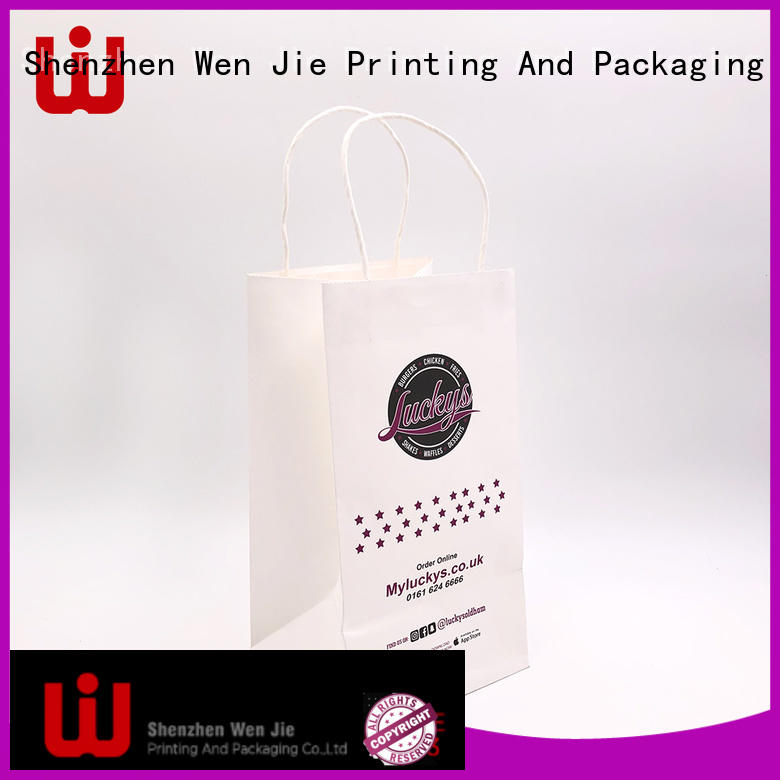 WenJie string paper bag China wholesale for shop
