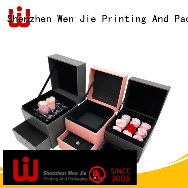 WenJie modern gift box with ribbon design for shop