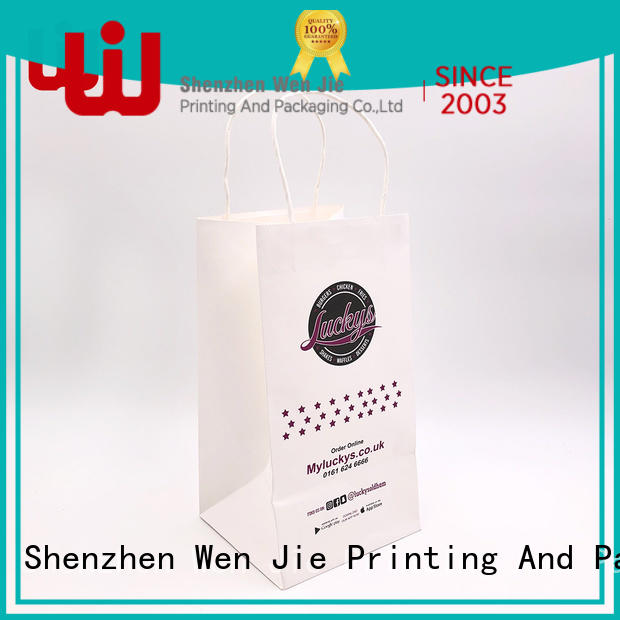WenJie shopping tiny paper bags with handles China wholesale for store