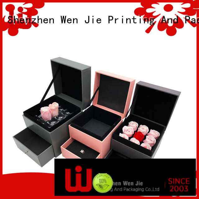 WenJie modern gift box with ribbon design for beauty store