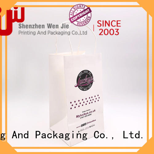 WenJie kraft small brown kraft bags manufacturers for shop