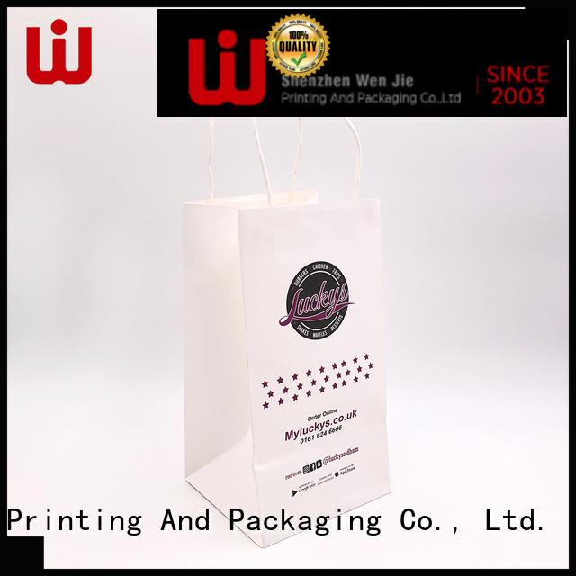 WenJie 15 kraft paper gift bags with handles China wholesale for shop