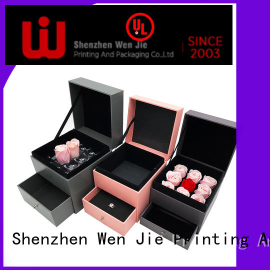 Custom plain white boxes with lids wig manufacturers for shop