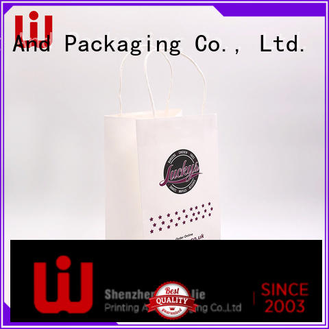 good quality paper bag desisn with string for shop